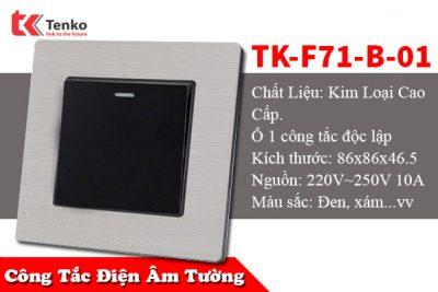 Công Tắc Điện Âm Tường 1 Nút TENKO TK-F71-B-01