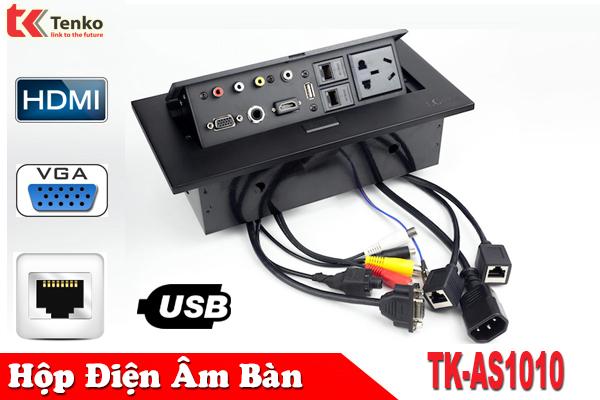 Hộp điện âm bàn họp – sơn tĩnh điện cao cấp TENKO TK-AS1010