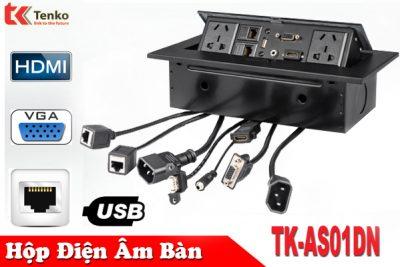 Hộp Ổ Cắm Điện Âm Bàn HDMI/VGA/LAN/USB TK-AS01DN