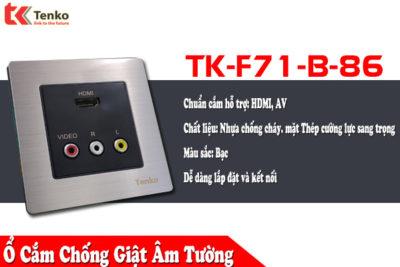 Ổ Cắm HDMI – AV  Âm Tường TK-F71-B-86