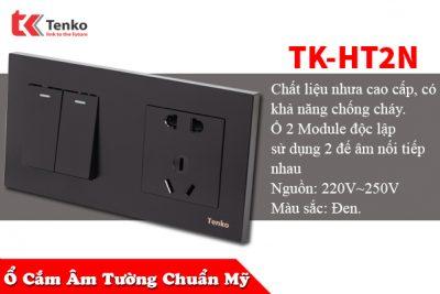 Ổ Cắm, Công Tắc Âm Tường 2 Module TK-HT2N