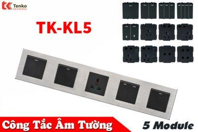 Ổ Cắm, Công Tắc Âm Tường 5 Module TK-KL5