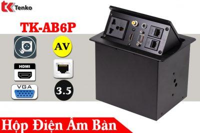 Hộp Ổ Cắm Điện Âm Bàn HDMI-VGA-AV-LAN TK-AB6P