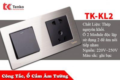 Ổ Cắm, Công Tắc Âm Tường 2 Module TK-KL2
