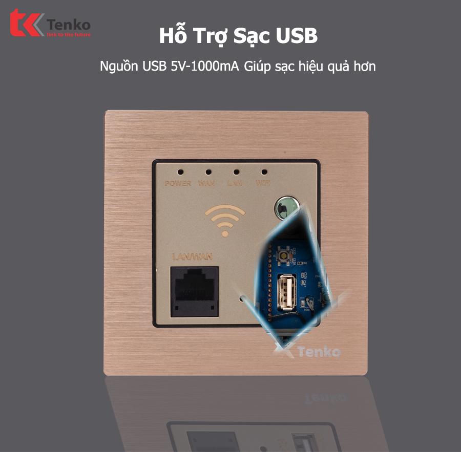 Mặt Wifi Âm Tường tích hợp USB