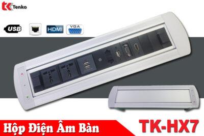Hộp Điện Âm Bàn Xoay 180 Độ – Tích Hợp Cổng HDMI-LAN-USB TK-HX7