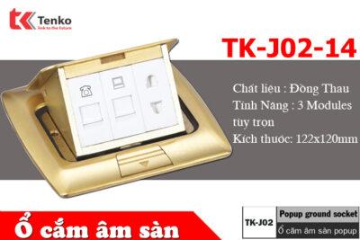 Ổ Cắm Điện Âm Sàn 3 Modules Bằng Đồng Tenko TK-J02-14
