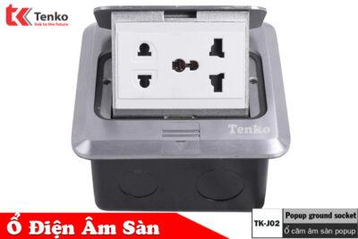 Ổ Cắm Điện Âm Sàn Thông Dụng Hợp Kim Nhôm Tenko TK-J02-15 Màu Bạc