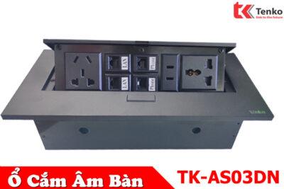 Hộp Điện Âm bàn Đa Năng 2 Cổng LAN(RJ45) – 2Phone(RJ11) Tenko TK-AS03DN